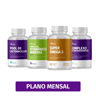 plano-longevidade-essencial-omega-3-pool-de-lactobacillus-complexo-vitaminico-mineral-antioxidante-bs-pharma-plano-mensal